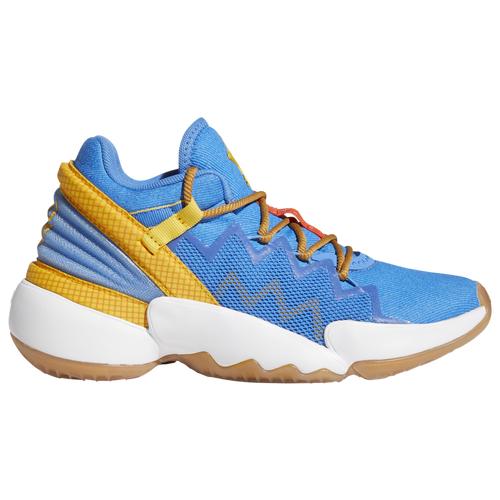 adidas Boys adidas D.O.N. Issue #2 Woody - Boys' Grade School Basketball Shoes Tech Ink/Bold Orange/Mesa Size 04.0