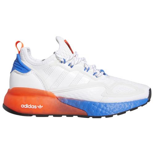 adidas Originals Boys adidas Originals ZX 2K Boost - Boys' Grade School Shoes White/Red/Blue Size 06.0