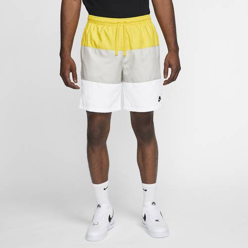 Nike Mens Nike Club Essentials Novelty Shorts - Mens Opti Yellow/White/White Size L