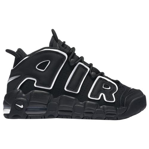 Nike Boys Nike Air More Uptempo - Boys' Grade School Basketball Shoes Black Size 04.0
