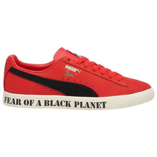Puma Mens PUMA Clyde x Public Enemy - Mens Shoes Black/Red Size 08.5