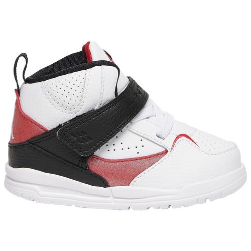 Jordan Boys Jordan Flight 45 High - Boys' Toddler Shoes White/Gym Red/Black Size 07.0