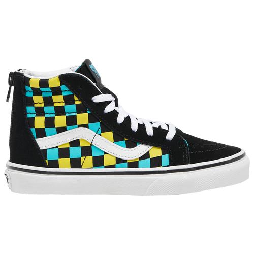 Vans Boys Vans SK8 Hi - Boys' Preschool Skate Shoes Black/Blue Size 13.0