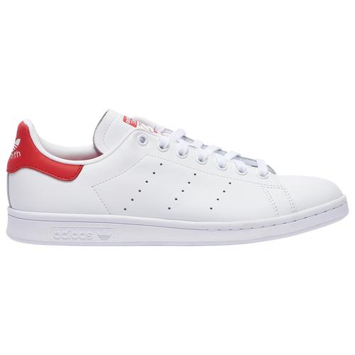 adidas Originals Mens adidas Originals Stan Smith - Mens Shoes White/White/Lush Red Size 13.0