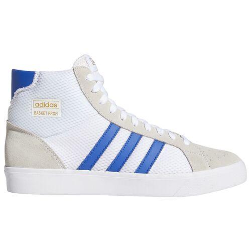 adidas Originals Mens adidas Originals Basket Profi - Mens Shoes White/Royal/Gold Size 08.5