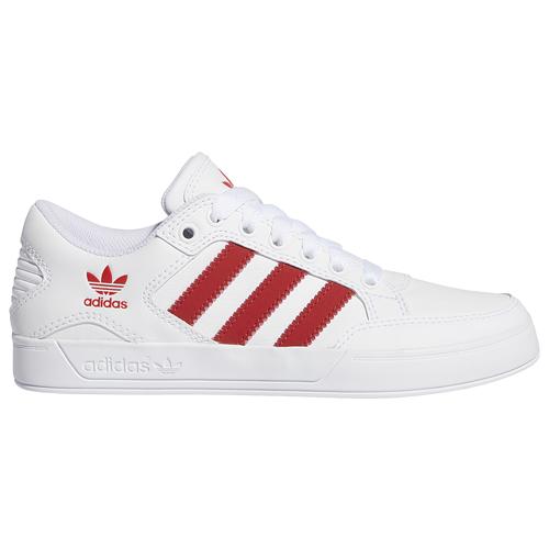 adidas Originals Boys adidas Originals Hardcourt Low - Boys' Grade School Shoes Ftwr White/Scarlet/Gum Size 04.5