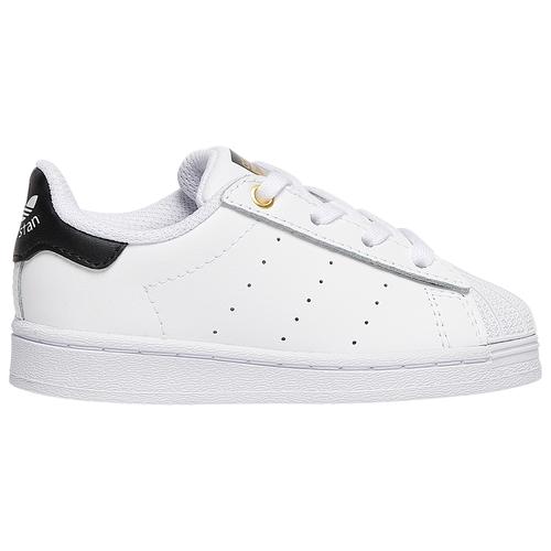 adidas Originals Boys adidas Originals SuperStan - Boys' Toddler Shoes White/Black/Gold Metallic Size 04.0