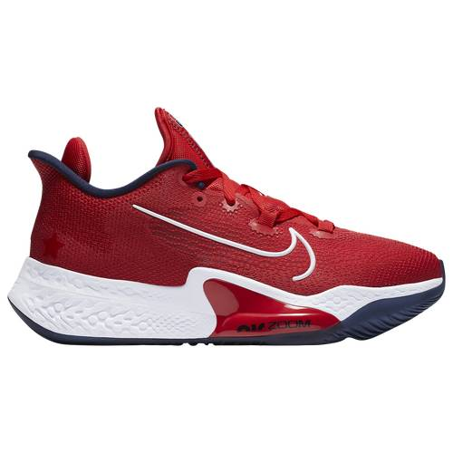 Nike Mens Nike AIR ZOOM BB NXT - Mens Basketball Shoes Sport Red/White/Obsidian Size 18.0