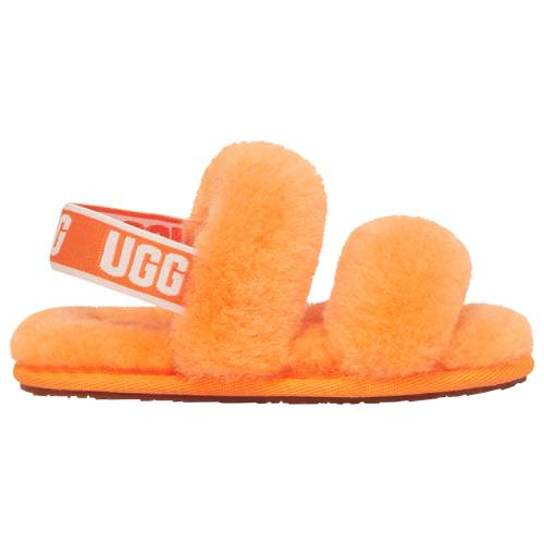 UGG Girls UGG Oh Yeah Slide - Girls' Toddler Shoes Orange/Orange Size 09.0