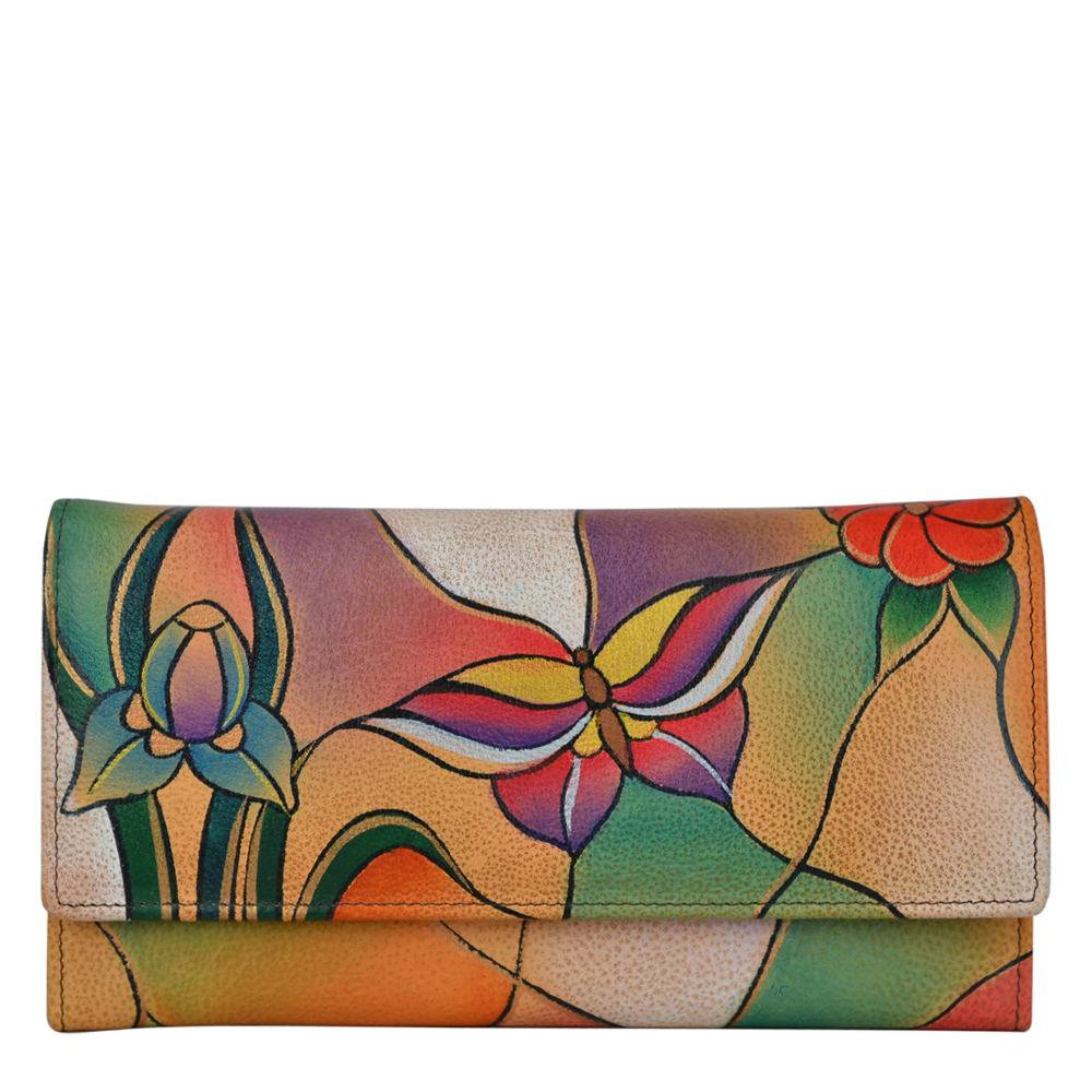 Anna by Anuschka Multi Pocket Wallet - Butterfly Garden; Size: No Size