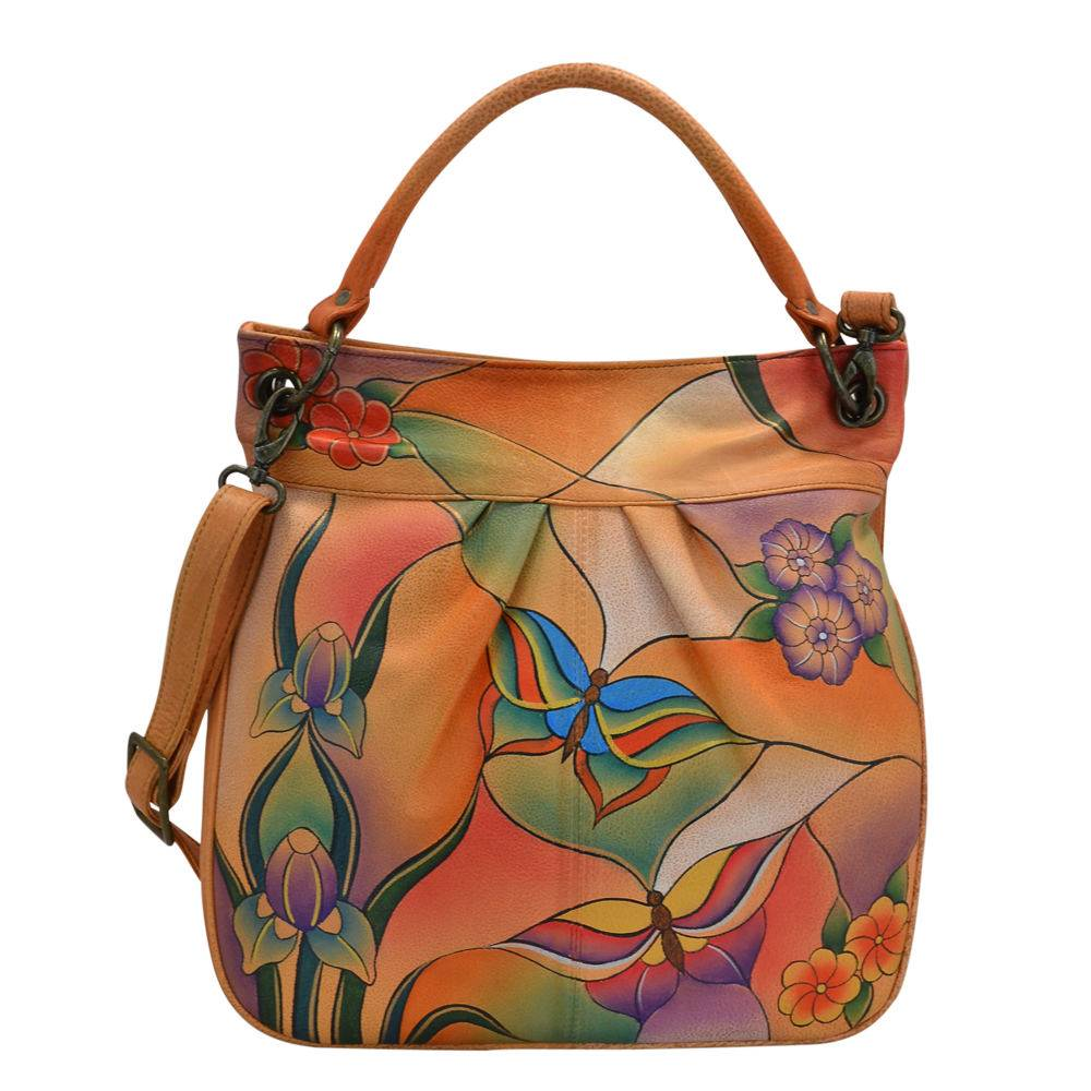 Anna by Anuschka Large Convertible Tote - Butterfly Garden; Size: No Size