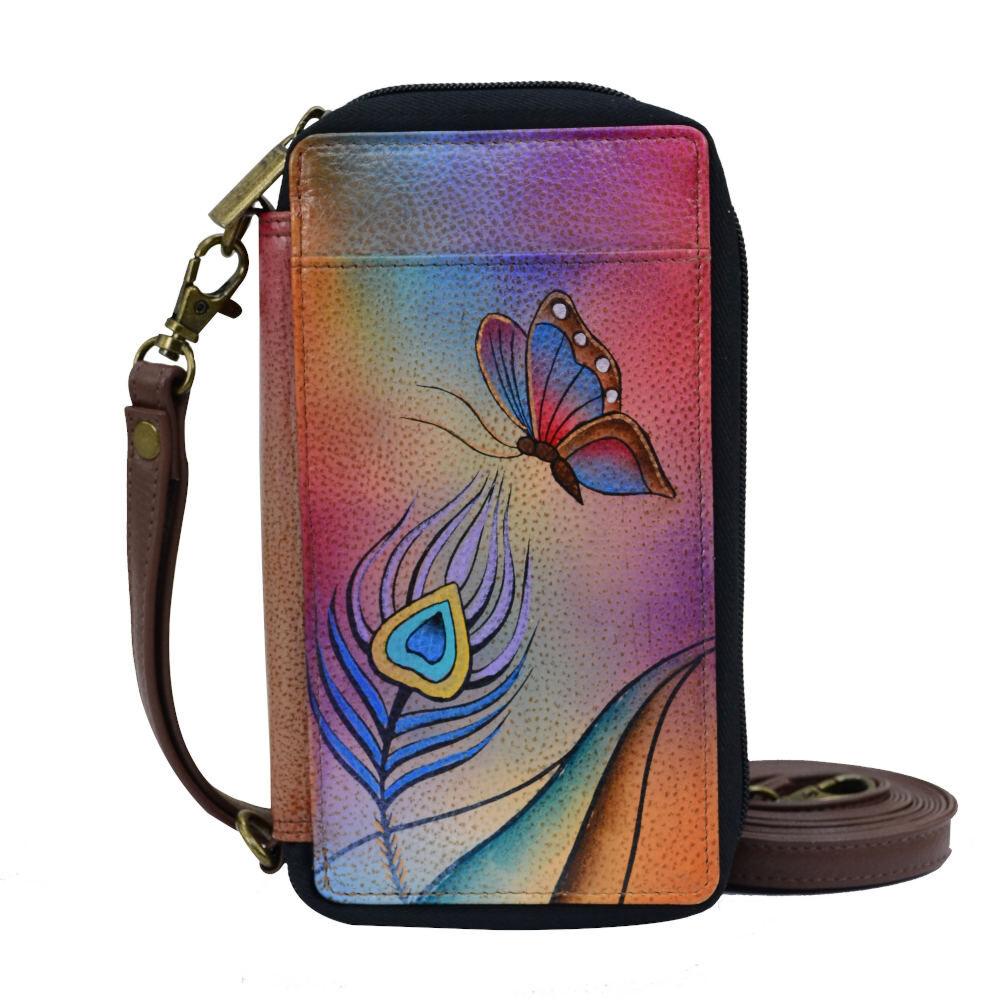 Anna by Anuschka Smart Phone Case & Wallet - Butterfly Garden; Size: No Size
