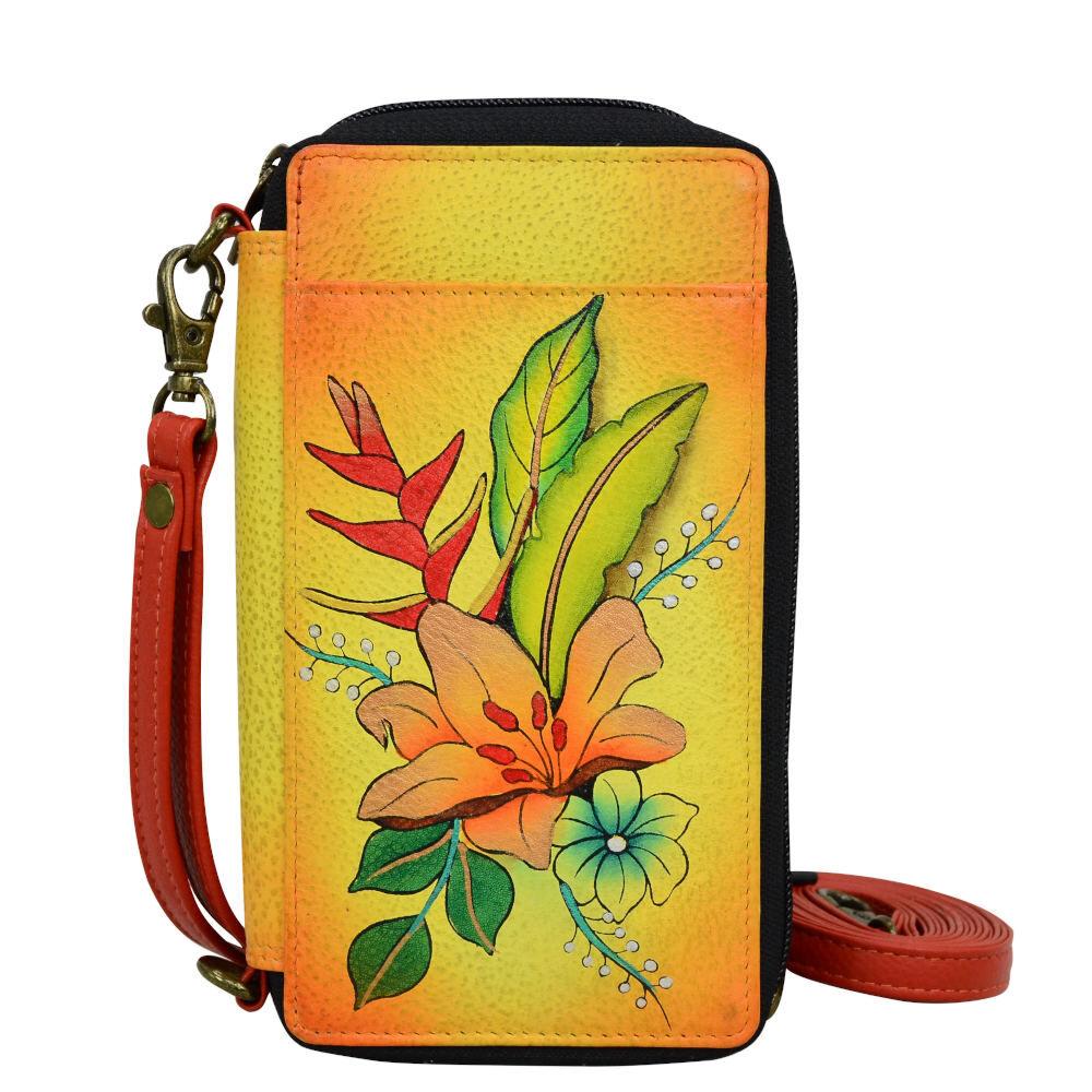 Anna by Anuschka Smart Phone Case & Wallet - Bouquet; Size: No Size