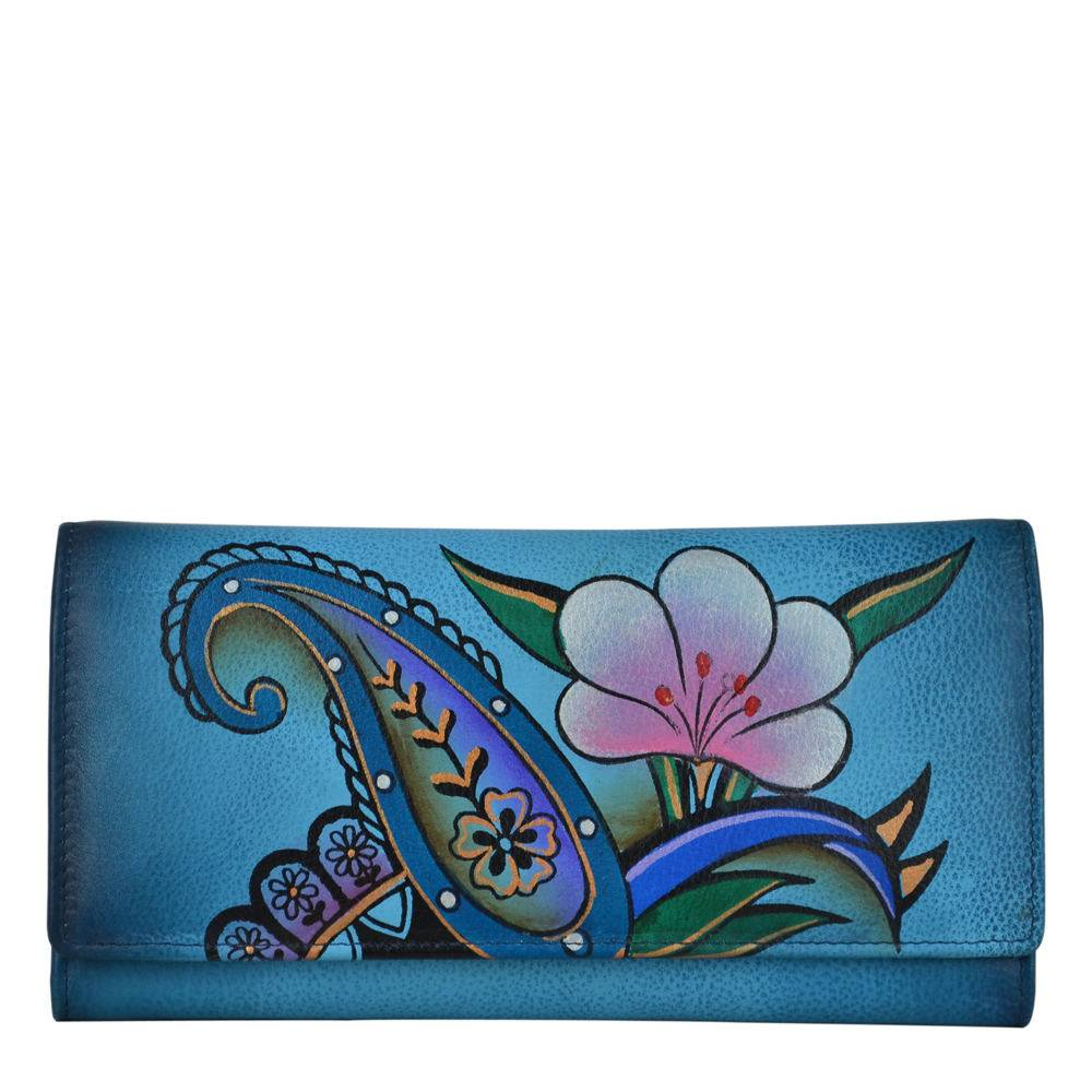 Anna by Anuschka Multi Pocket Wallet - Floral; Size: No Size
