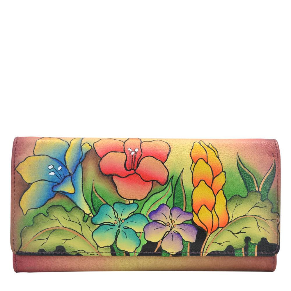 Anna by Anuschka Multi Pocket Wallet - Flowery Garden; Size: No Size