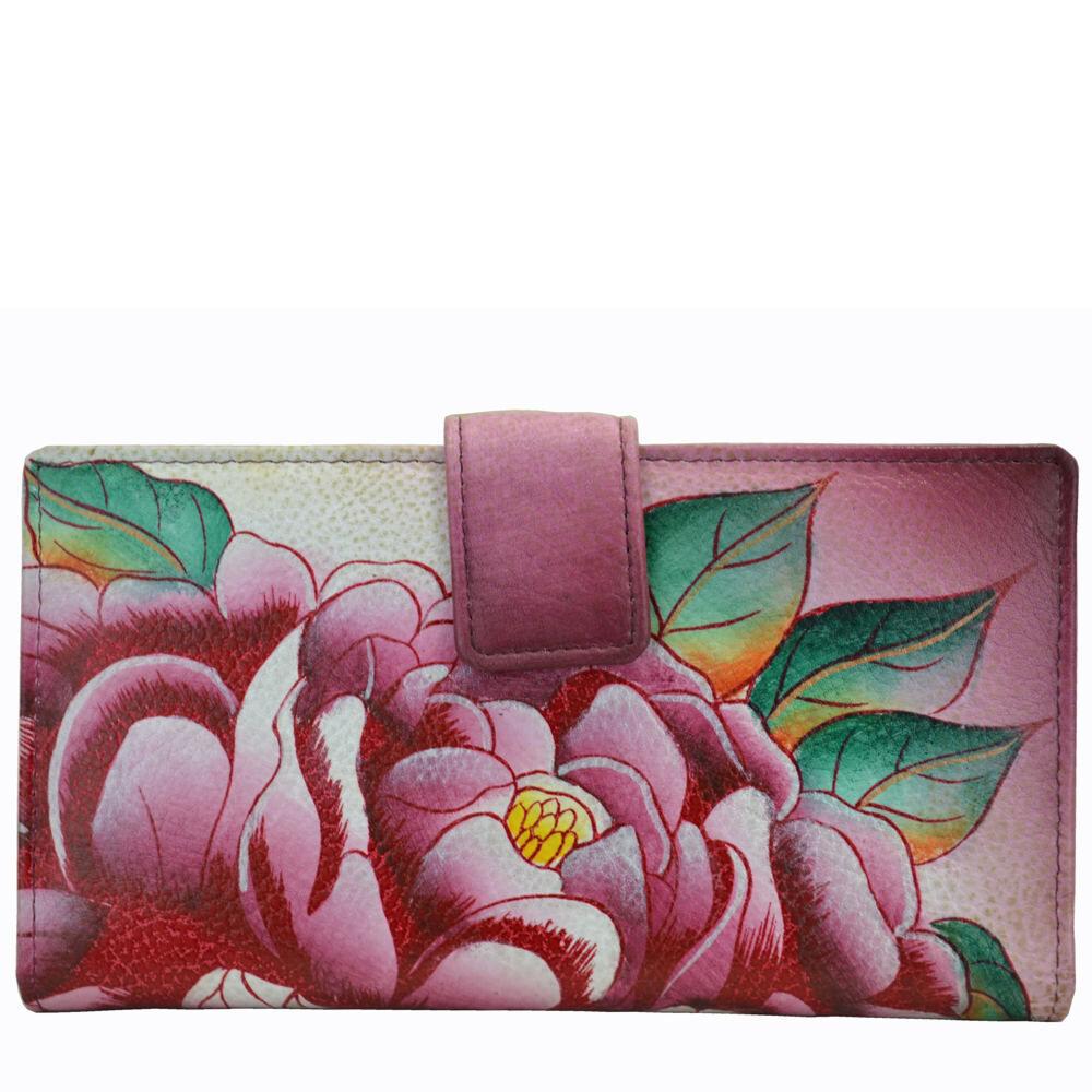 Anna by Anuschka Two Fold Organizer Wallet - Flower; Size: No Size
