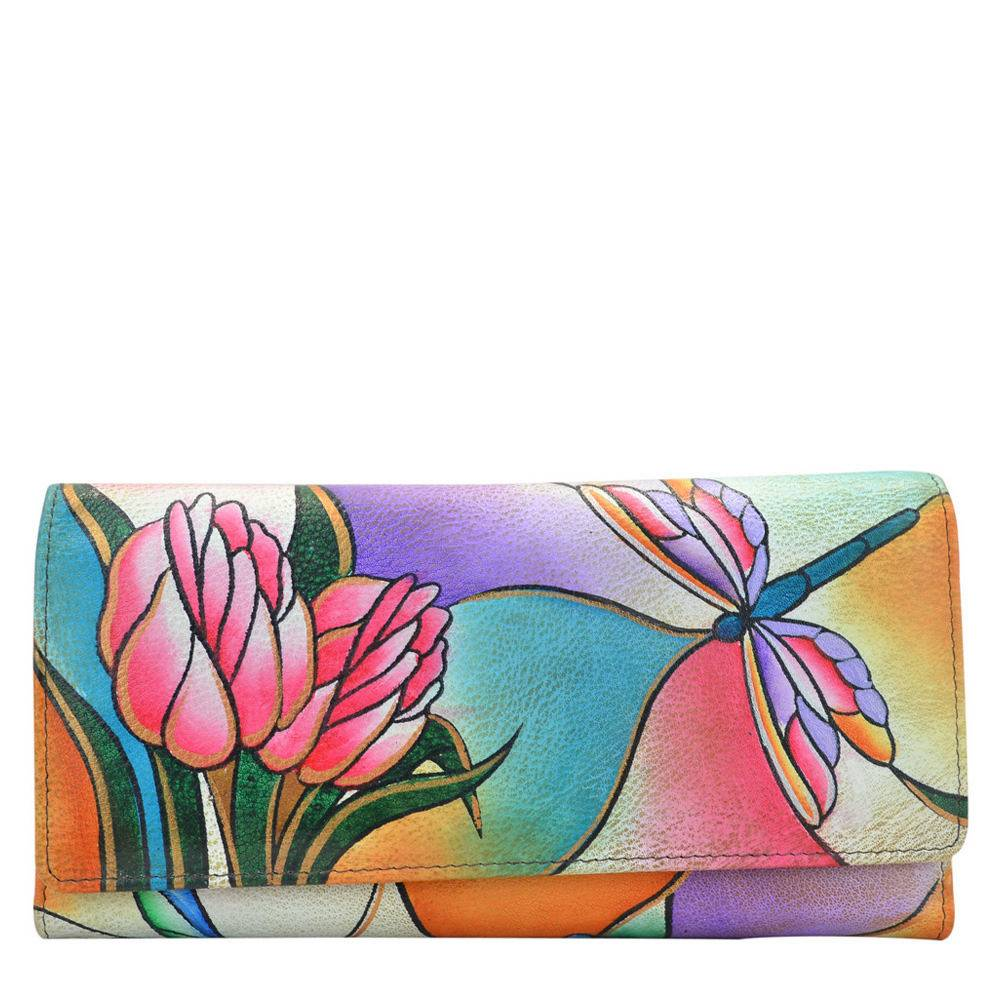 Anna by Anuschka Two-Fold Slim Wallet - Floral/Multi; Size: No Size