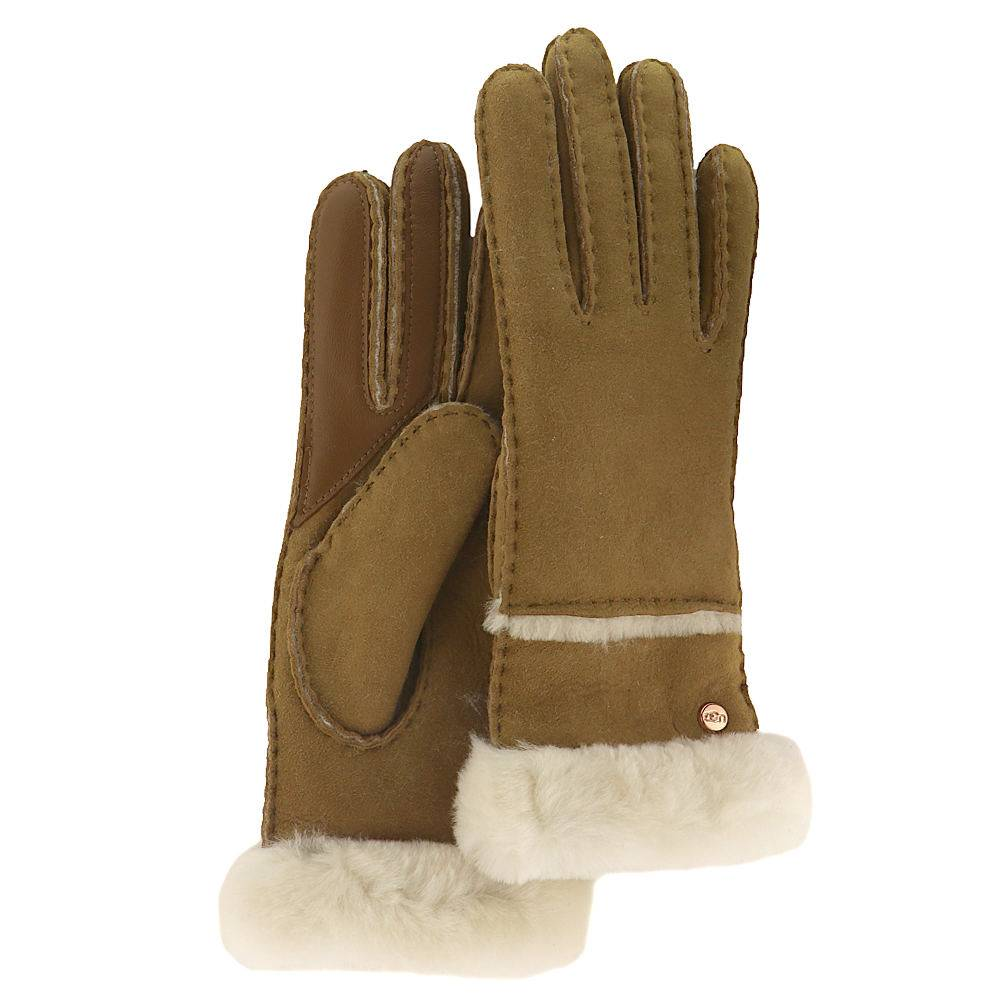UGG® Women's Seamed Tech Glove - Chestnut; Size: L