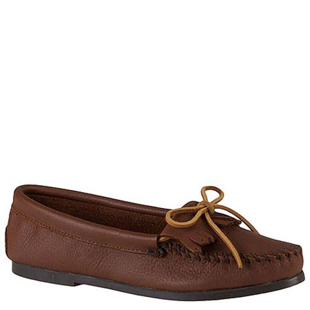 Minnetonka Women's Butter Kiltie Moccasin - Tan/Brown; Size: 8.5