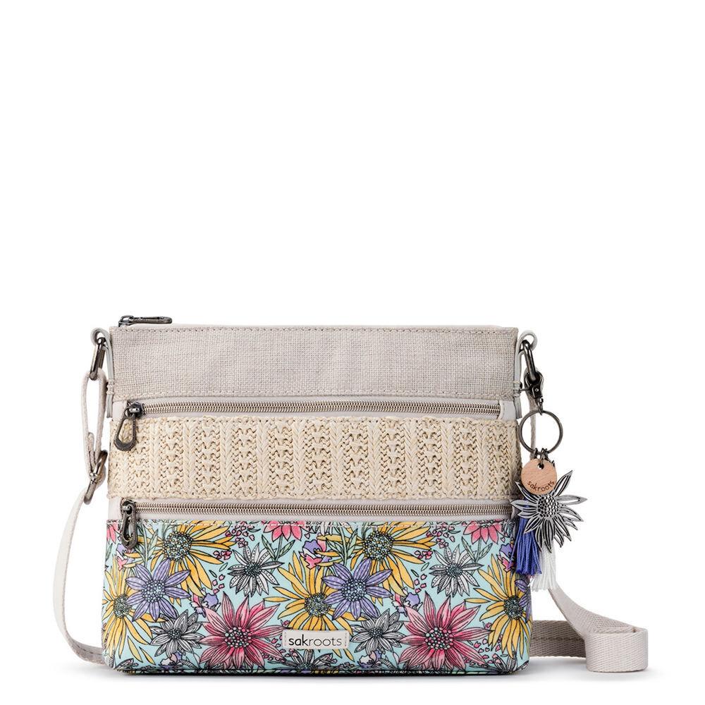 Sakroots Basic Crossbody Handbag - Pastel/Flower/Garden; Size: No Size