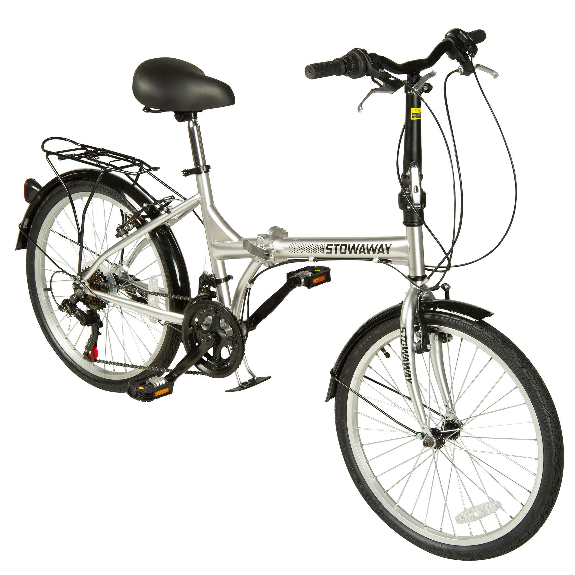 Stowaway 12-Speed Folding Bike, Silver