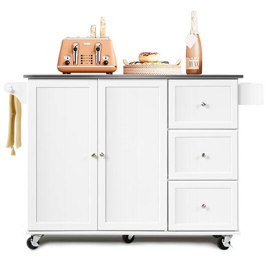 Costway Kitchen Island 2-Door Storage Cabinet