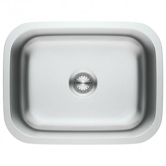 "Costway 23"" Stainless Steel Single Bowl Kitchen Sink Basin"