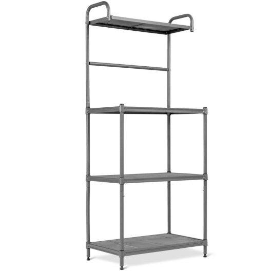Costway 4-Tier Baker's Rack Stand Shelves Kitchen Storage Rack Organizer