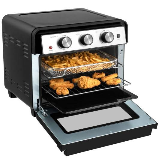 Costway 23 QT 6-in-1 Air Fryer Toaster Oven with 9 Accessories