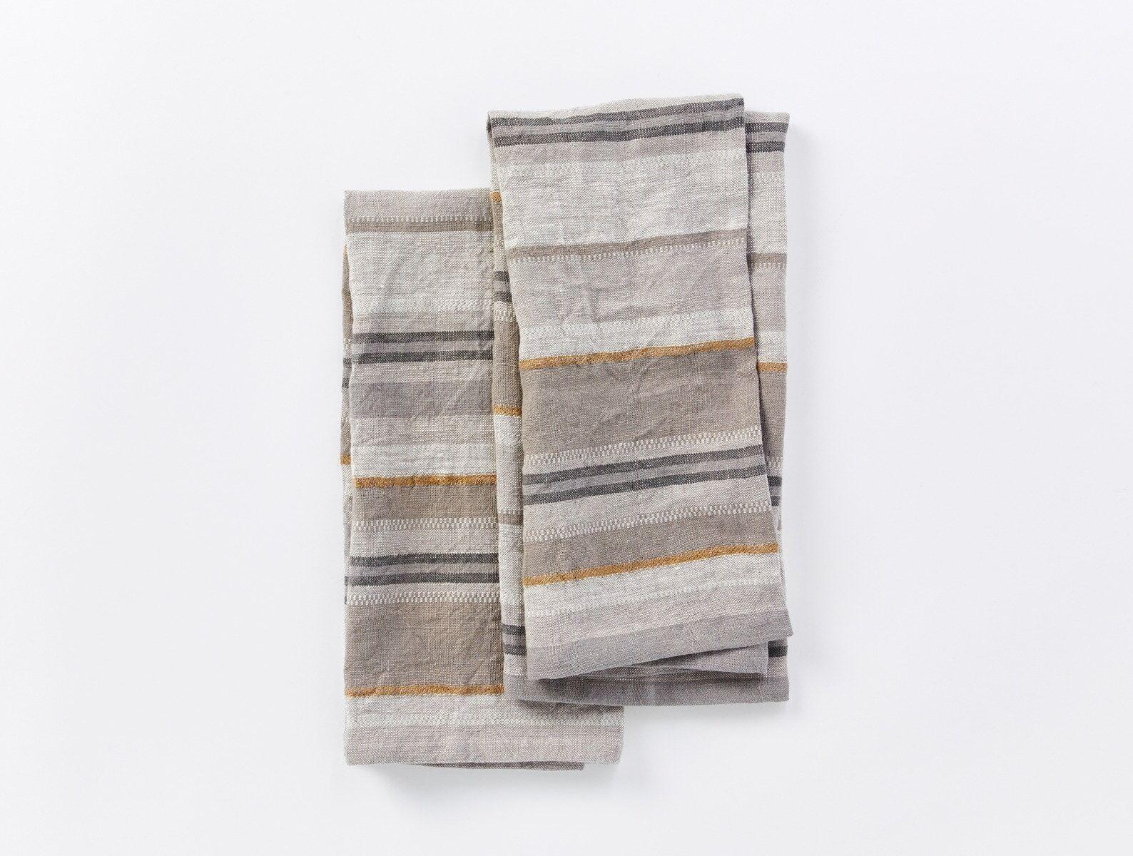 "Coyuchi   Mojave Organic Linen Kitchen Towel Set of 2 20""x30"" Gray"