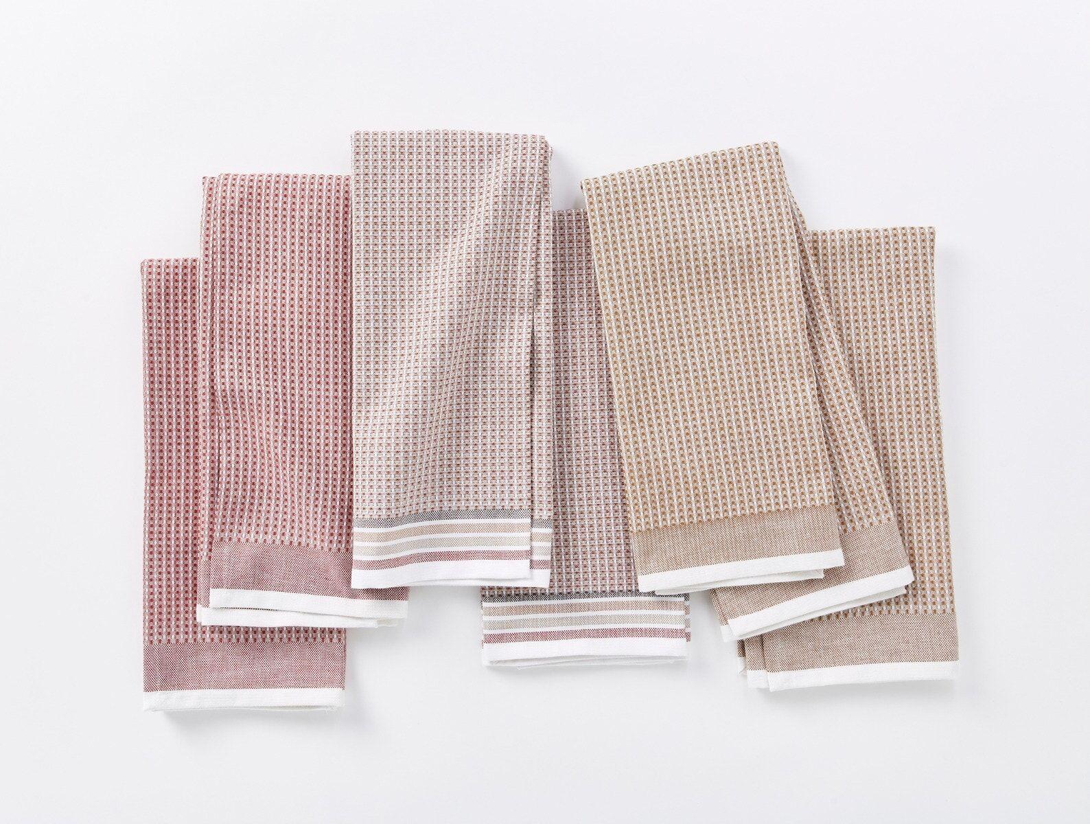 "Coyuchi   Organic Waffle Kitchen Towel Set of 6 20""x30"" Prairie"