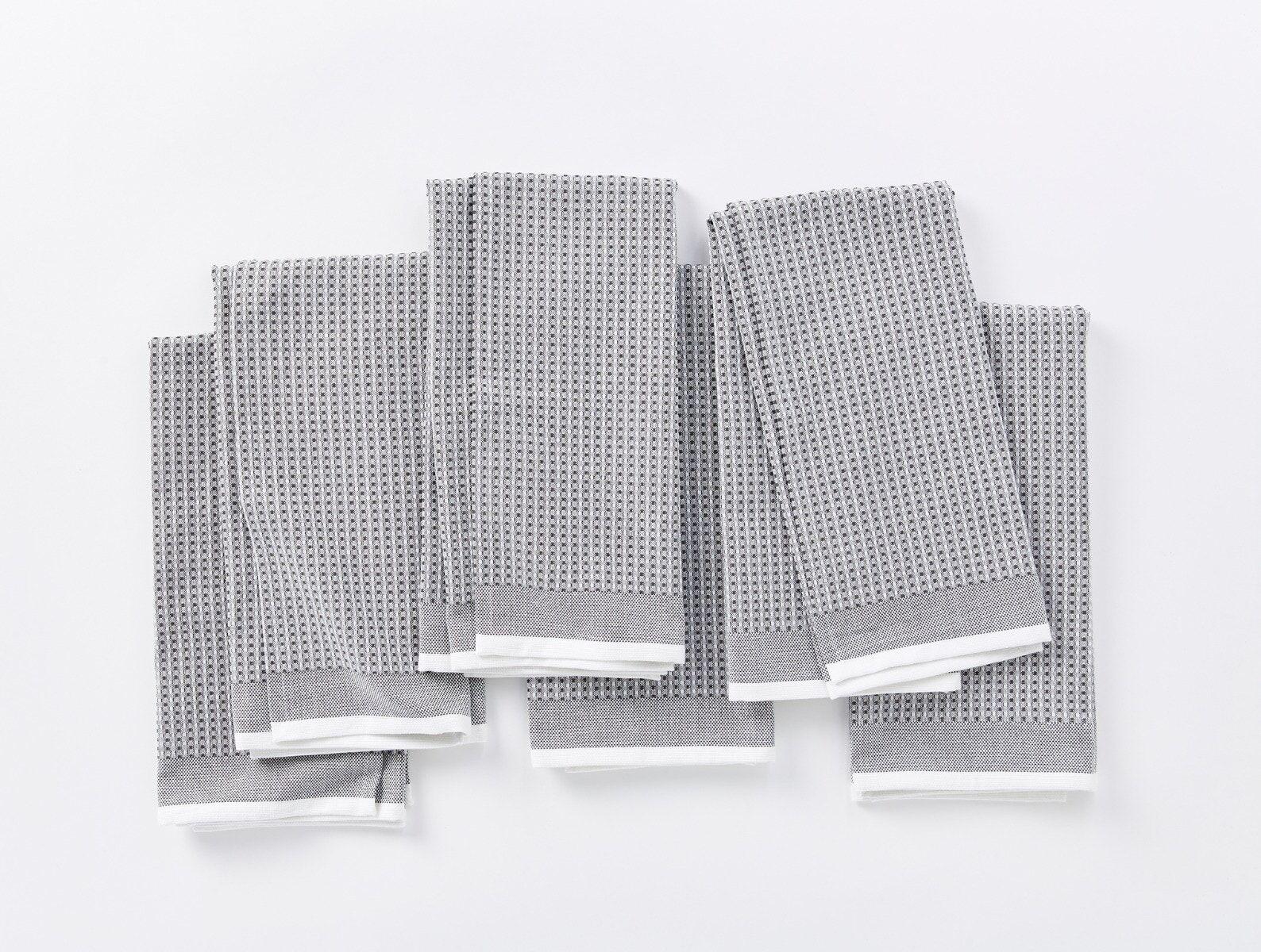 "Coyuchi   Organic Waffle Kitchen Towel Set of 6 20""x30"" Shadow"