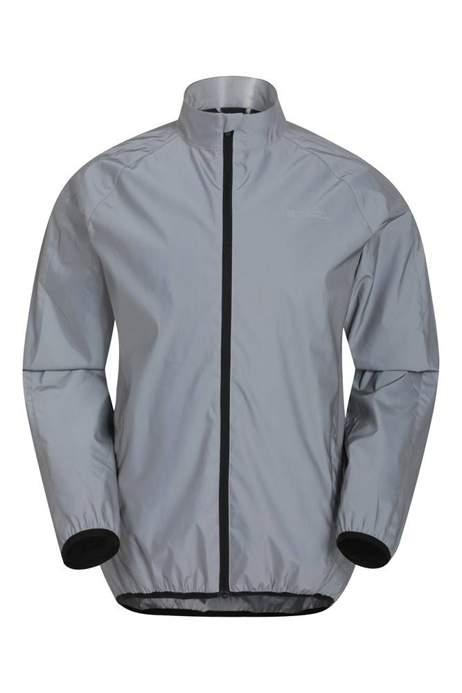 Mountain Warehouse 360 Reflective Mens Jacket - Silver  - Size: 2X-Small