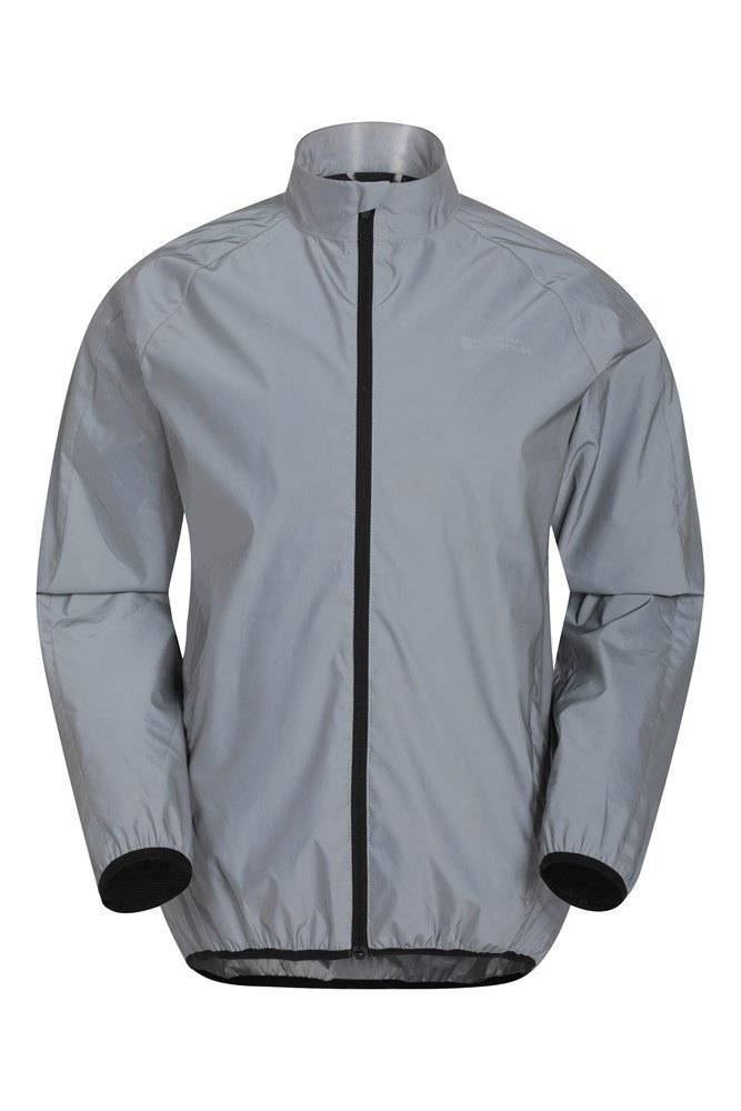 Mountain Warehouse 360 Reflective Mens Jacket - Silver  - Size: 3X-Large