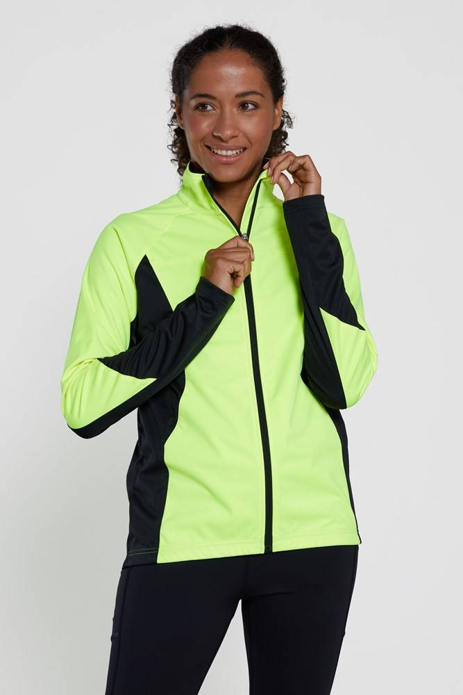 Mountain Warehouse Speed Up High-Vis Womens Midlayer - Yellow  - Size: 16