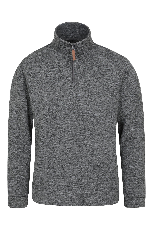 Mountain Warehouse Idris Mens Fleece - Grey  - Size: Medium
