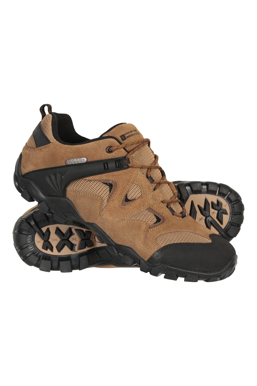 Mountain Warehouse Curlews Mens Waterproof Walking Shoes - Beige  - Size: 12