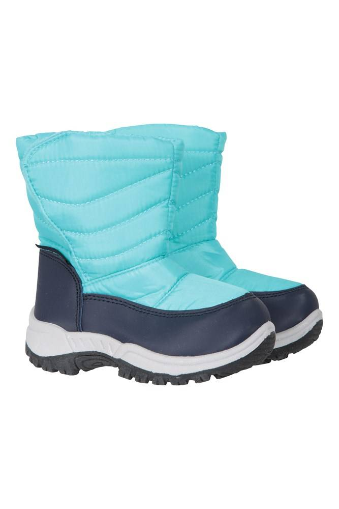 Mountain Warehouse Caribou Junior Snow Boots - Teal  - Size: 9