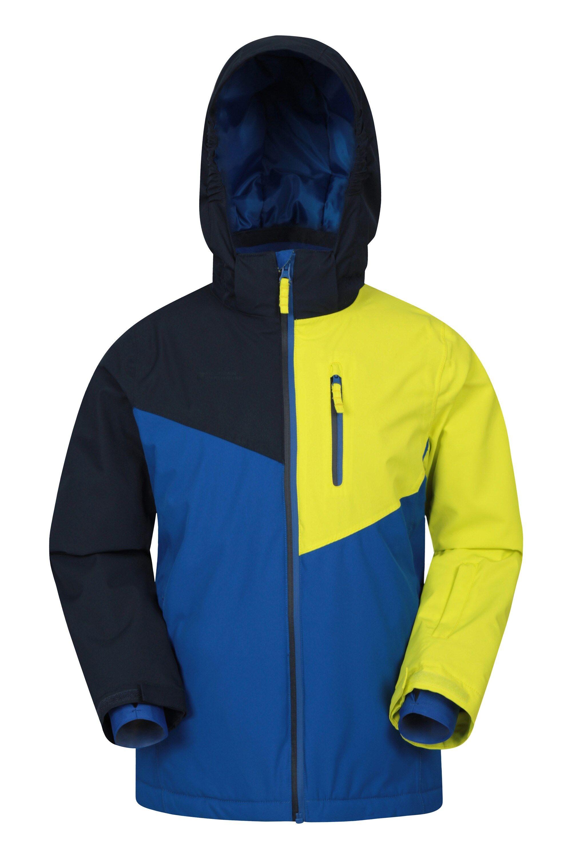 Mountain Warehouse Everest Extreme Kids Waterproof Ski Jacket - Yellow  - Size: 11-12