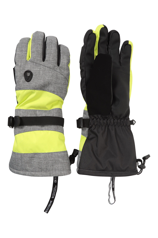 Mountain Warehouse Summit Extreme Mens Ski Gloves - Yellow  - Size: Medium