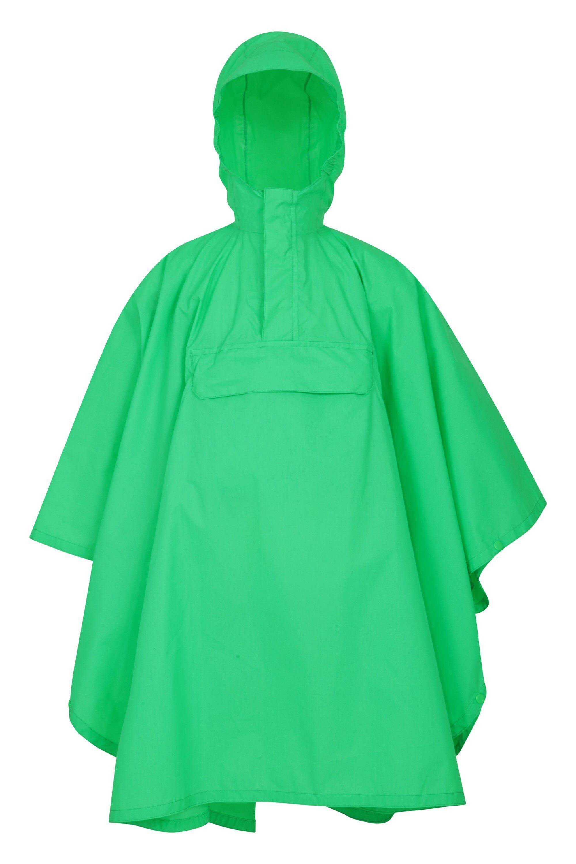Mountain Warehouse Pakka Kids Waterproof Poncho - Green  - Size: Medium