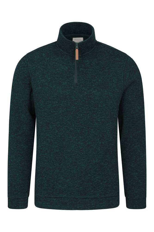 Mountain Warehouse Idris Mens Fleece - Green  - Size: Medium