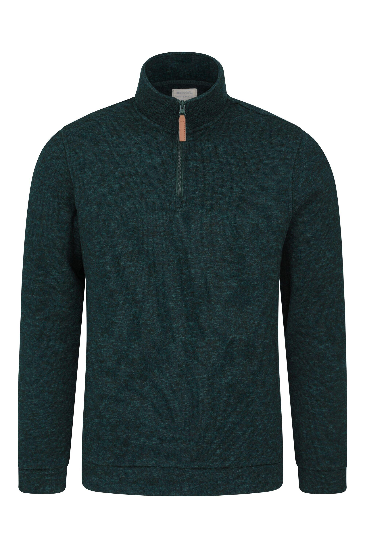 Mountain Warehouse Idris Mens Fleece - Green  - Size: 2X-Large