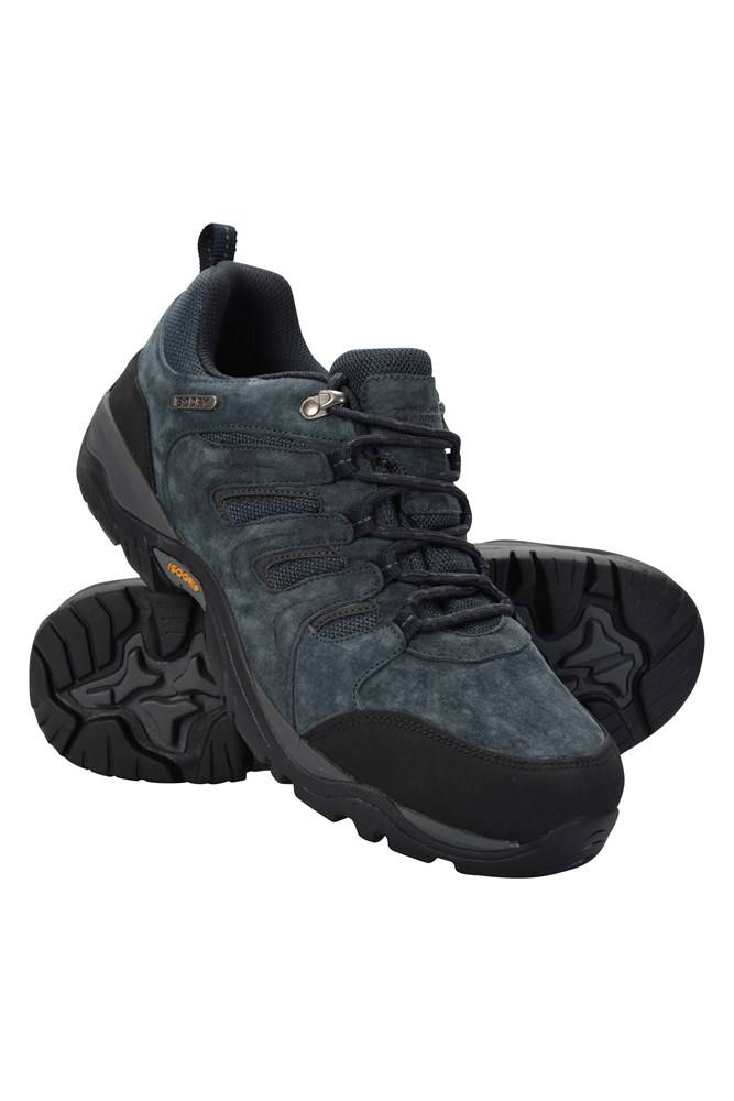 Mountain Warehouse Aspect IsoGrip Mens Waterproof Shoes - Navy  - Size: 8