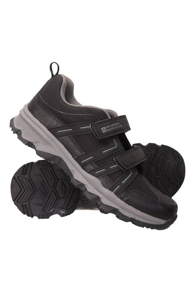 Mountain Warehouse Cannonball Kids Hiking Shoes - Black  - Size: 2
