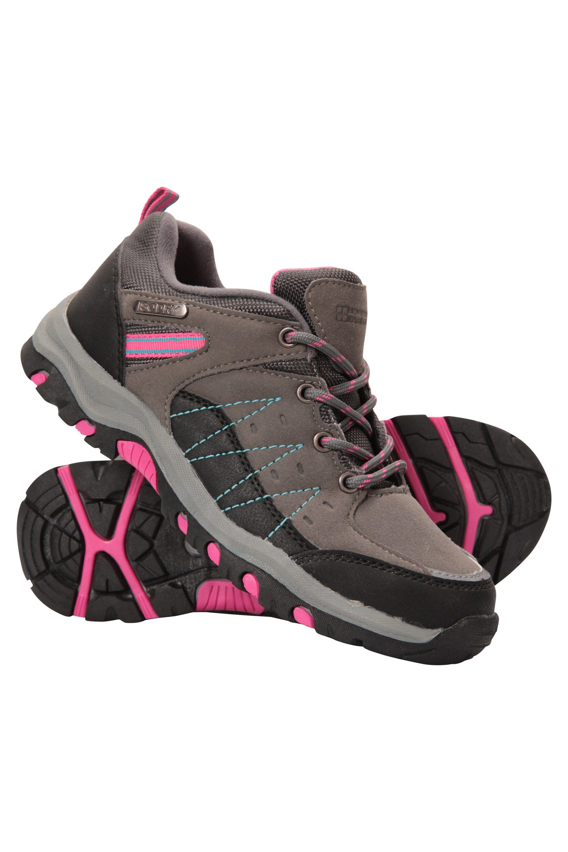 Mountainlife Stampede Kids Waterproof Hiking Shoes - Grey  - Size: 4