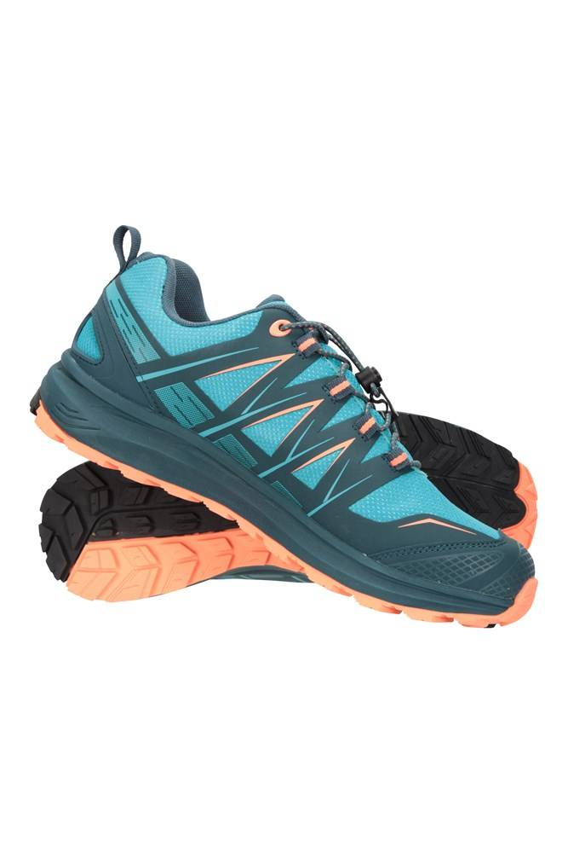 Mountain Warehouse Himalayas Womens Waterproof Approach Shoes - Teal  - Size: 8