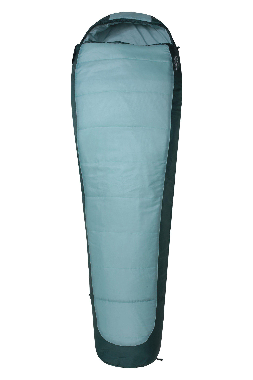 Mountain Warehouse Microlite 700 Sleeping Bag - Teal  - Size: LLR