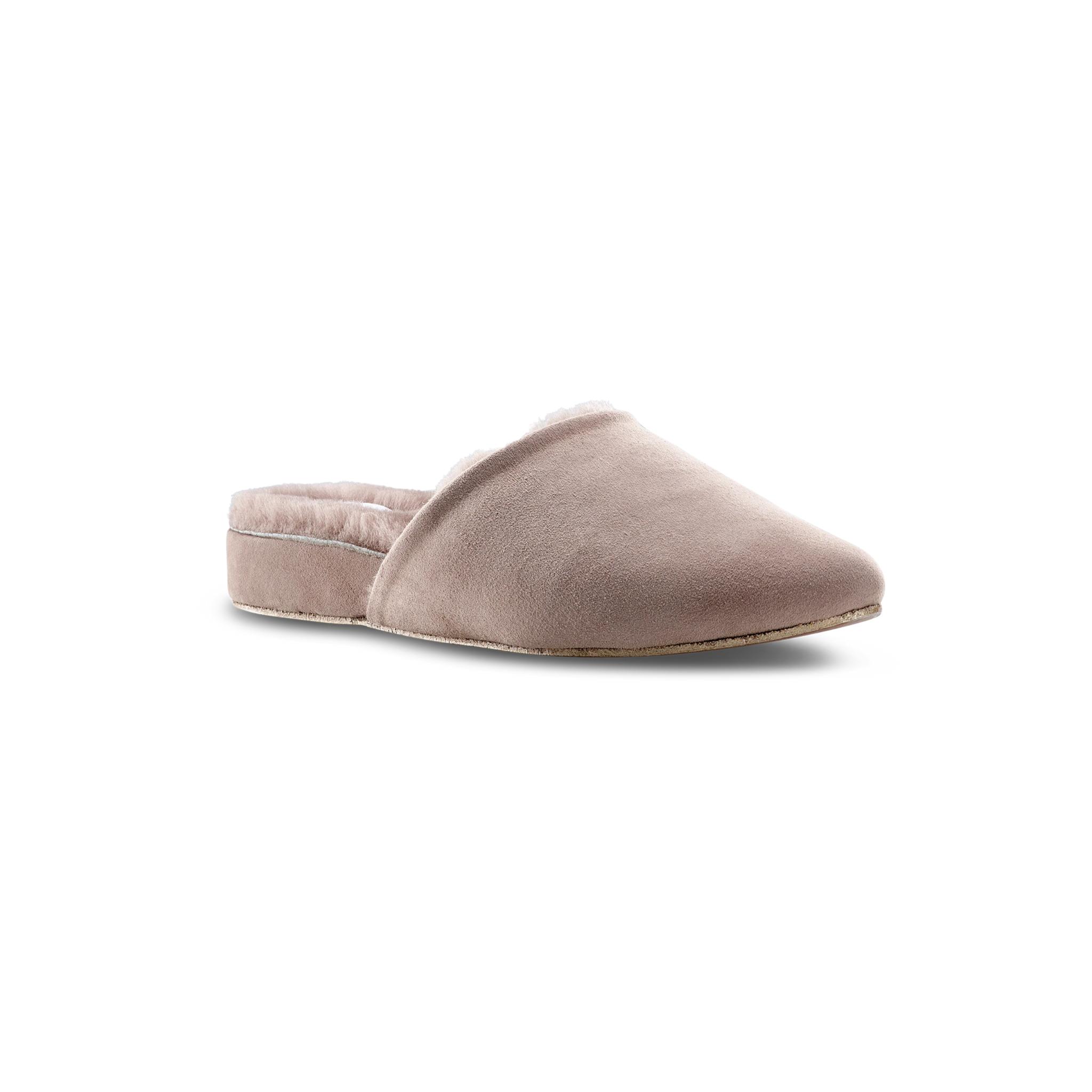 Ross & Snow Julia Desert Rose Shearling Lined Slipper - Discount Italian Shoes