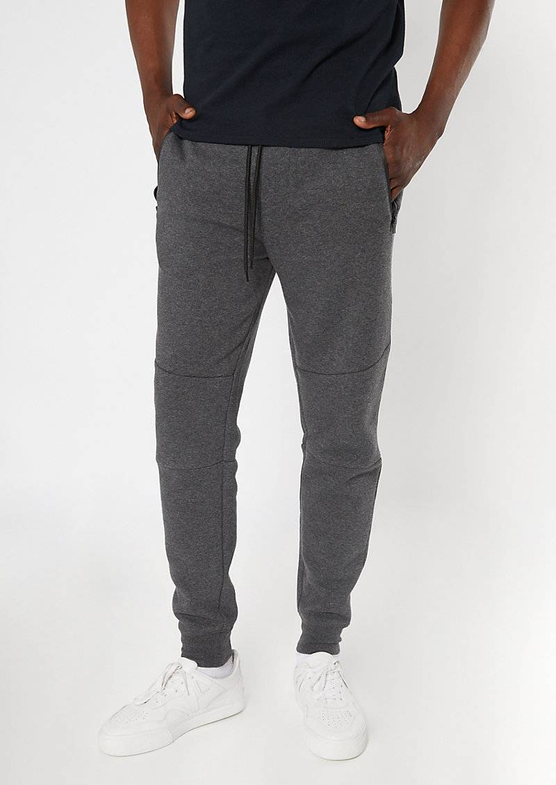 rue21 Charcoal Gray Zipper Pocket Athletic Joggers  - Size: Large